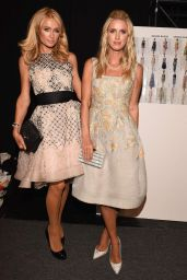 Paris and Nicky Hilton attend Dennis Basso Spring 2016 in NYC