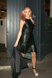 Pixie Lott - Leaving West ThirtySix in London, September 2015