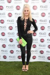 Pixie Lott - New Remastered Fiat 500 Launch Field Park on September 2015