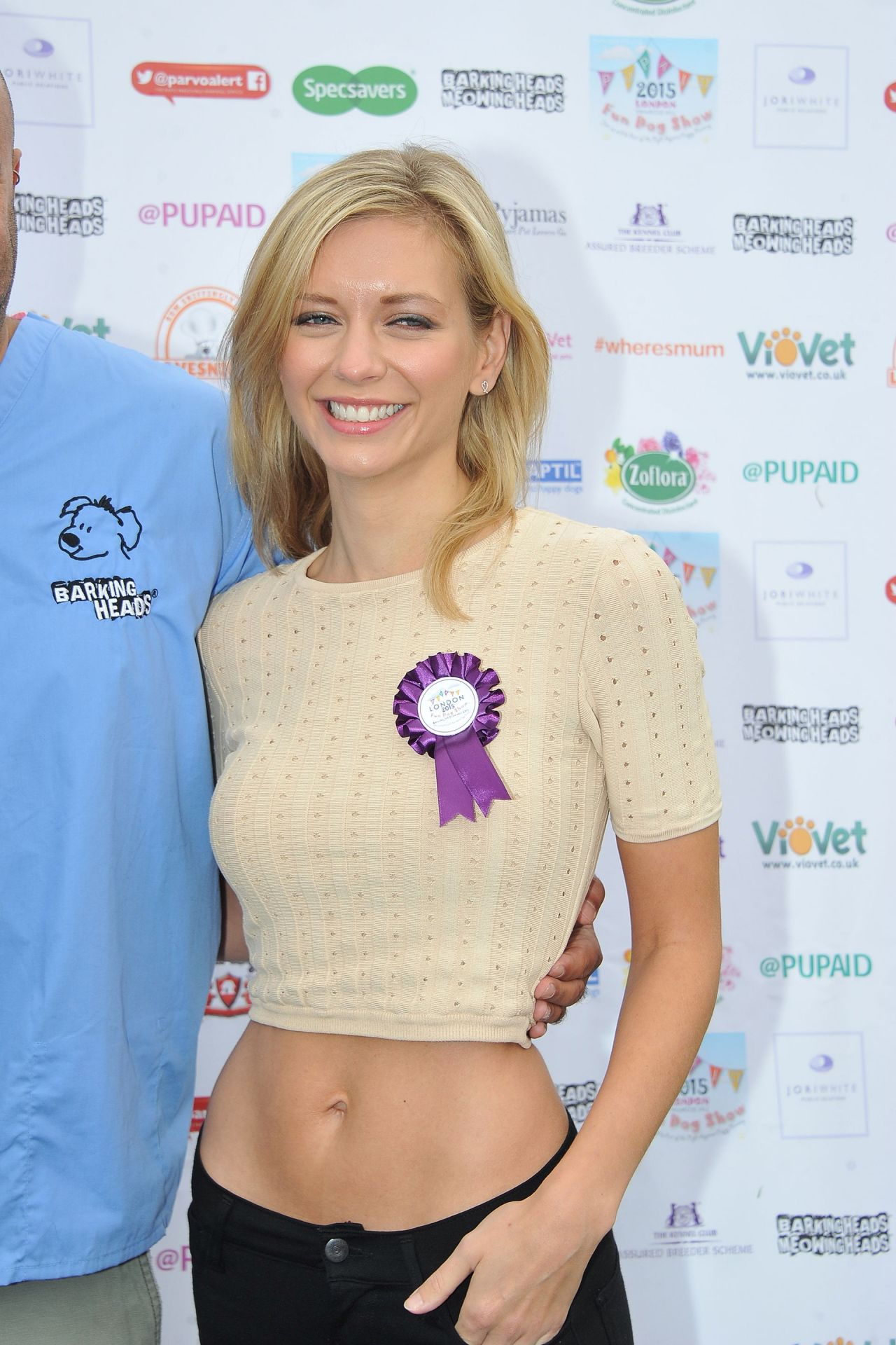 Rachel Riley 2015 Pupaid Puppy Farm Awareness Day In London