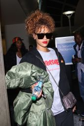 Rihanna Airport Style - Arriving at LAX Airport, September 2015