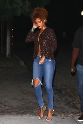 Rihanna in Jeans - Night Out in LA, September 2015