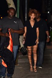 Rihanna Night Out Style - Arrives to Spotted Pig, September 2015