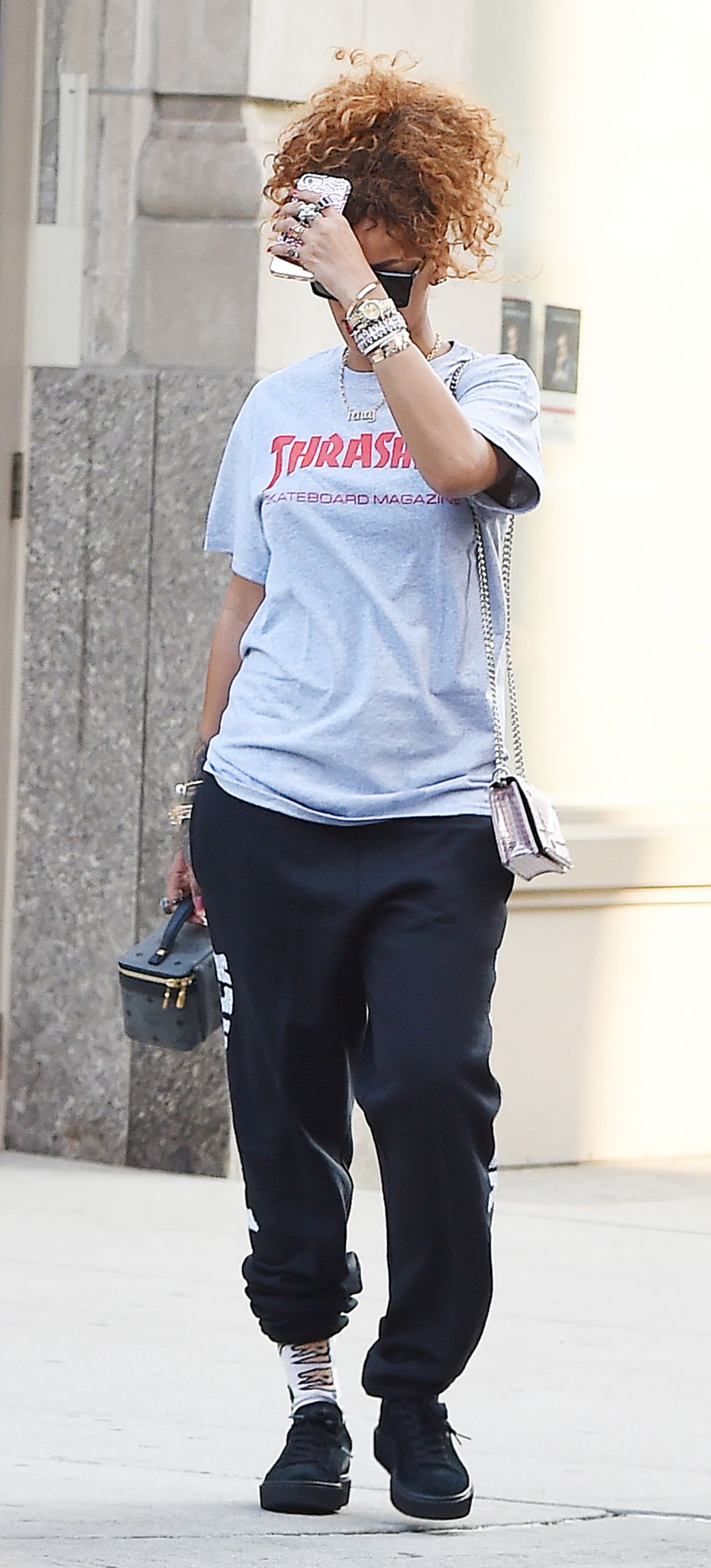 Rihanna Street Style Out In Nyc September 2015