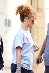 Rihanna Street Style - Out in NYC, September 2015