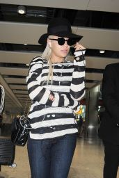 Rita Ora Airport Style - Heathrow Airport in London, September 2015