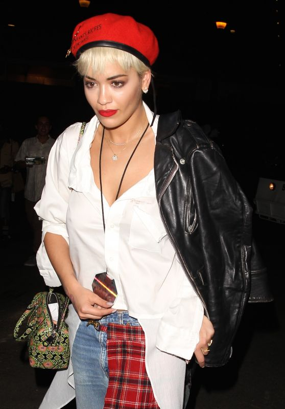 Rita Ora at the Kanye West Concert in Los Angeles, September 2015