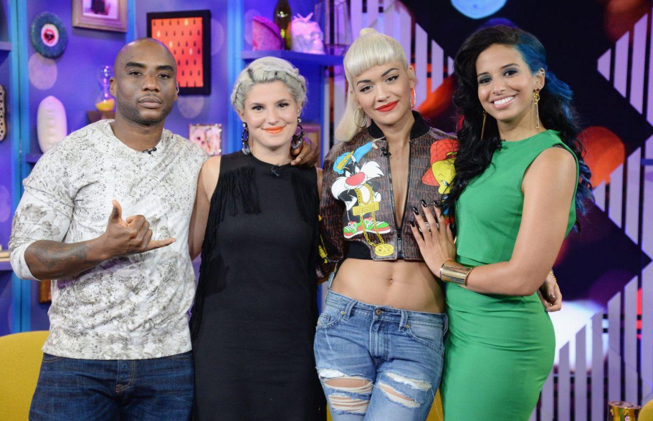 Rita Ora On the Set of MTV s Iggy Azalea And Rita Ora