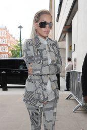 Rita Ora Style - At BBC Radio 1 Studios in London, September 2015