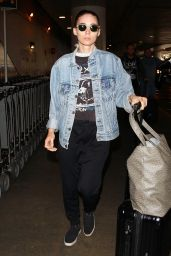 Rooney Mara Airport Style - at LAX, August 2015