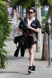 Rose McGowan Leggy in Shorts - Out in West Hollywood, September 2015