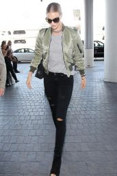 Rosie Huntington-Whiteley - LAX in Los Angeles, September 2015