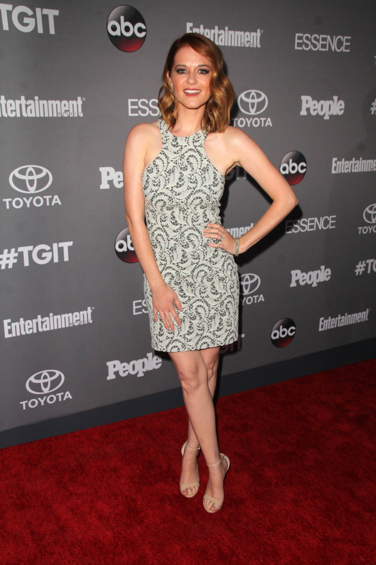 Sarah Drew Abc S Tgit Line Up Celebration In West Hollywood