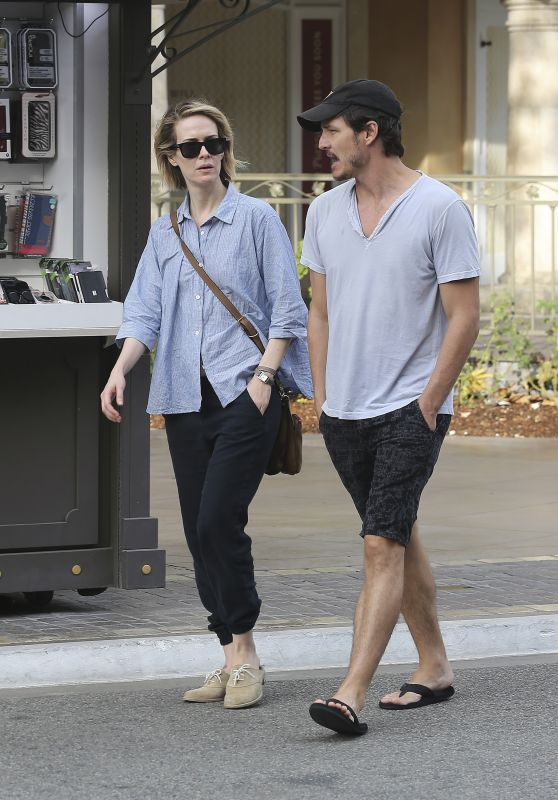 Sarah Paulson and Boyfriend Actor Pedro Pascal - Out in West Hollywood, September 2015