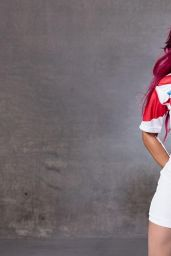Sasha Banks - WWE Rugby World Cup Divas Photoshoot - September 2015
