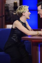 Scarlett Johansson Appeared on The Late Show With Stephen Colbert, September 2015
