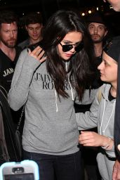 Selena Gomez Airport Style - Arriving at Gare Du Nord in Paris, September 2015