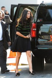 Selena Gomez Arriving at Despierta America! in Miami, September 2015
