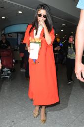 Selena Gomez at Heathrow Airport in London, September 2015