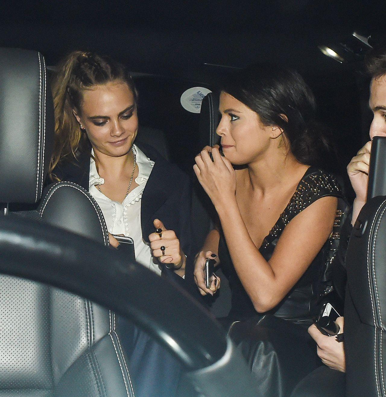 Selena Gomez & Cara Delevingne at LAX Airport in LA - July