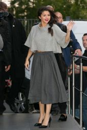 Selena Gomez is Wearing All Grey - NRJ Radio Studios in Paris, September 2015