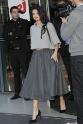 Selena Gomez is Wearing All Grey - NRJ Radio Studios in Paris, September 2015