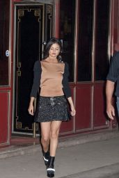 Selena Gomez - Leaving Davé Restaurant in Paris, September 2015