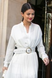 Selena Gomez Leaving Her Hotel in Paris, September 2015