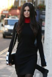 Selena Gomez Style - Leaving Kiss FM studios in London, September 2015