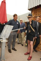 Sharon Stone Visits the Save The Children Expo Pavilion in Milan - September 2015