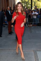 Sofía Vergara in Red Dress - at