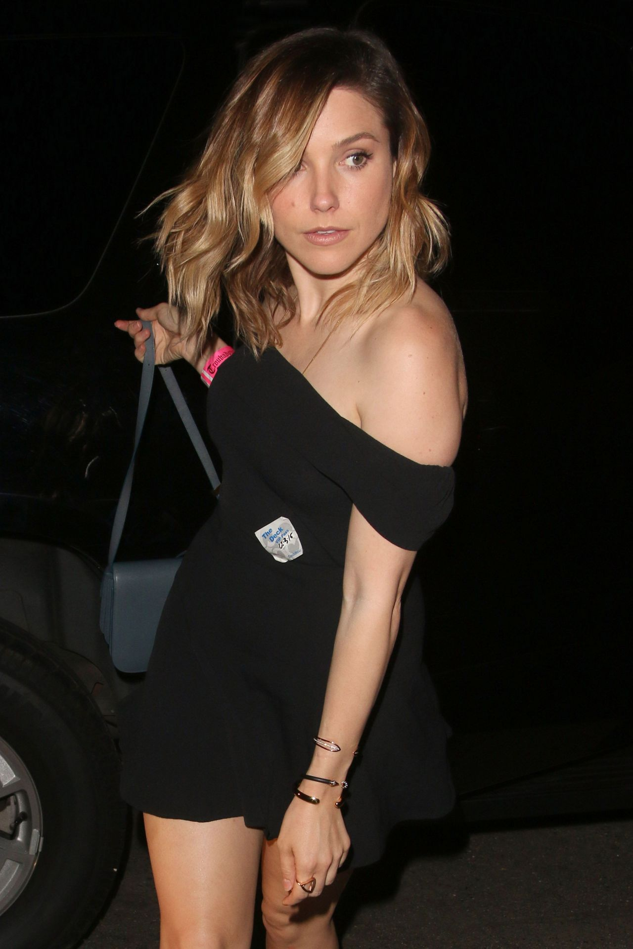 sophia bush night out style outside chateau marmont in