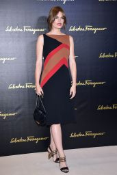 Stana Katic - Salvatore Ferragamo - Milan Fashion Week SS16