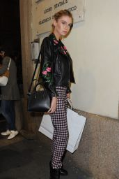 Stella Maxwell - Moschino Fashion Show in Milan, September 2015