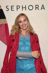 Suki Waterhouse at a Burberry Make Up Launch in New York City
