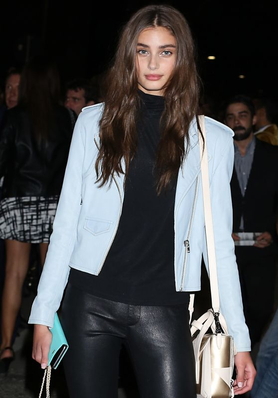 Taylor Hill - Leaving Versace SS2016 Show in Milan, September 2015