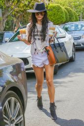 Vanessa Hudgens in RIpped Shorts - Out and About in West Hollywood, September 2015