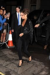 Victoria Beckham - Arriving at Her Shop for LFW Dinner Party, September 2015
