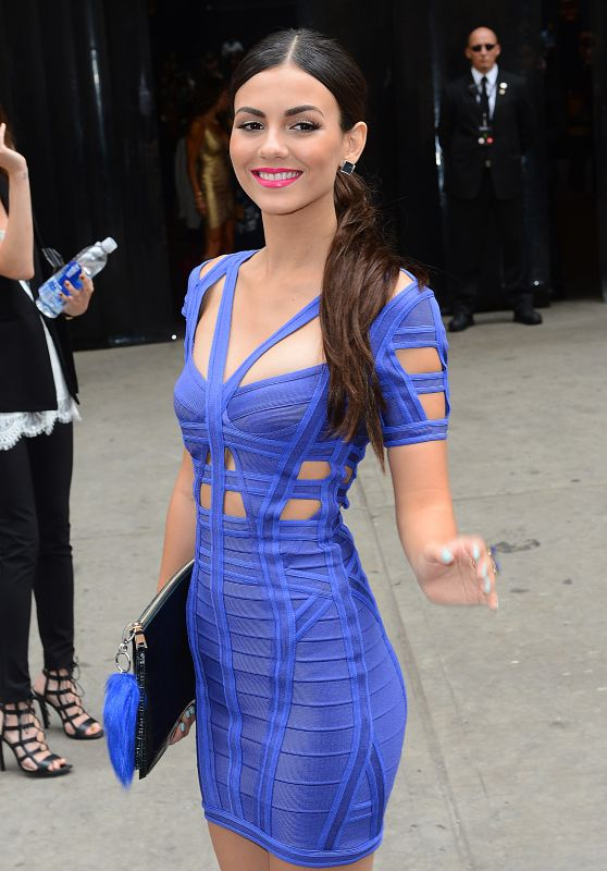 Victoria Justice at the Herve Leger Fashion Show in New York City, September 2015