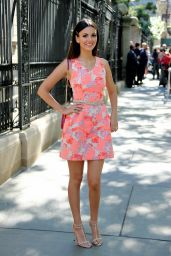 Victoria Justice - Carolina Herrera Spring 2016 Fashion Show in NYC