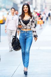 Victoria Justice - Going to see Beautiful on Broadway in New York City, August 2015
