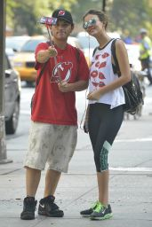 Victoria Justice in Leggings - Out in NYC, August 2015