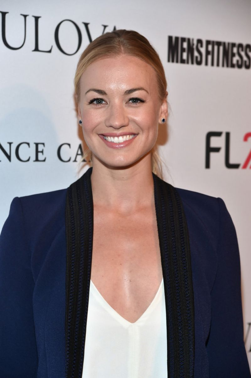 Yvonne strahovski men s fitness celebration of the 2015 game