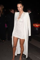 Alessandra Ambrosio - Balmain Show After Party in Paris, October 2015