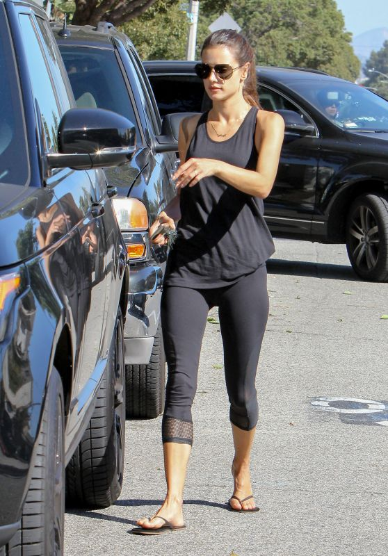 Alessandra Ambrosio in Leggings - Out in Los Angeles, October 2015