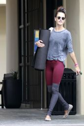 Alessandra Ambrosio - Leaving a Yoga Class in Brentwood, October 2015