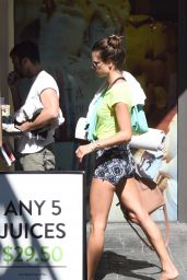 Alessandra Ambrosio - Leaving a Yoga Studio in Brentwood, October 2015