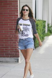 Alessandra Ambrosio Leggy in Shorts - Out in Los Angeles, October 2015