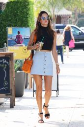 Alessandra Ambrosio Street Fashion - Out in Brentwood, October 2015