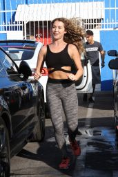 Alexa PenaVega Booty in Leggings - DWTS Studio in Hollywood, October 2015